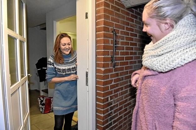 Annoncekonsulent Tina Majgaard Frantsen fra Thisted:Posten overrakte den glade besked. Foto: Ole Iversen Ole Iversen