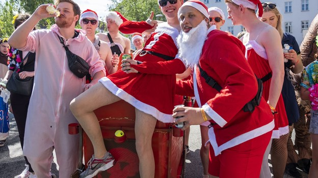 Temaet for årets folkefest er De fire årstider. Her er der dog vist tale om den femte - julen... Foto: Lasse Sand