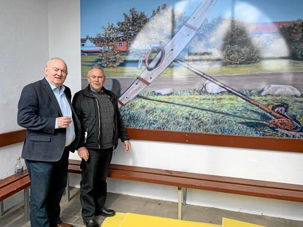 Afsløringen blev foretaget af Karsten Frederiksen og Hildo Rasmussen. Foto: Ole Torp Ole Torp