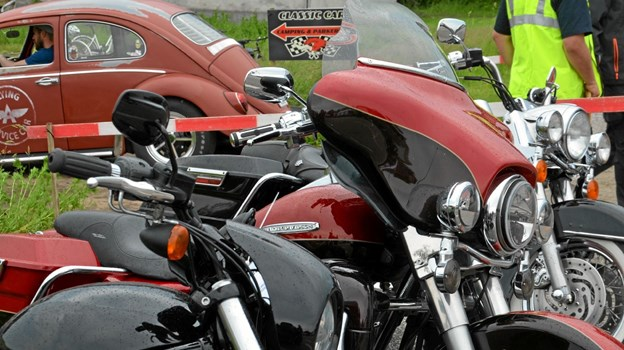 Motorcykler på rad og række. Foto: Jesper Bøss Jesper Bøss