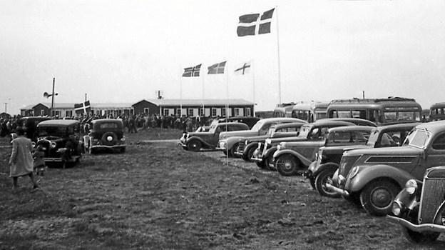 Feriecentret åbnede 15. maj 1949. 70-års dagen fejres med besøg af familien Hansen med oldemor Gudrun i spidsen for de fire generationer, der siden sommeren 1949 og til stadighed samler familien i Skallerup