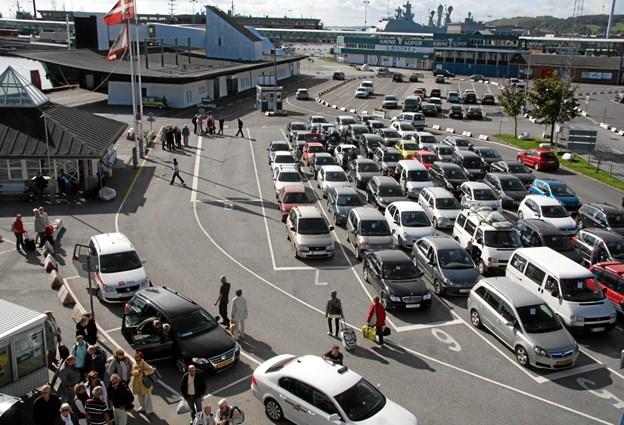 Hvis det giver mening for passagerne og trafikafviklingen kan man sagtens forestille sig at flytte Læsøfærgen lidt tættere på den øvrige trafikhavn.