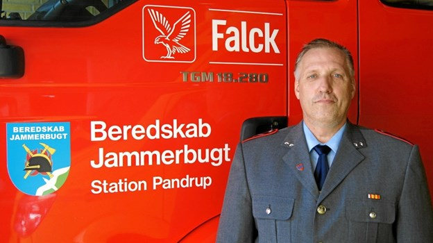Karsten Pedersen har været 40 år som deltidsbrandmand i Pandrup. Privatfoto