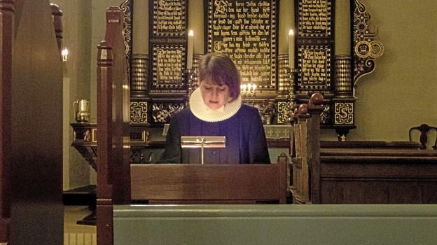 Sognepræst Kirstine Rosa Rebecca Rafn fortæller om et liv fra forstadstøs til sognepræst. ?Foto: Niels Helver