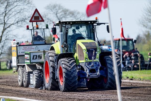Lørdag 4. maj er der atter traktortræk i Hobro, hvor der i år vil blive samlet ind til Julemærkehjemmet. Arkivfoto: Torben Hansen