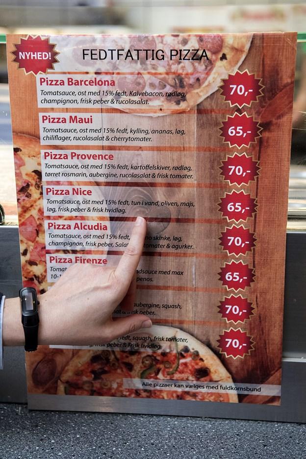 Her kan du se udvalget af sunde pizzaer hos Yones Grill & Pizza i Danmarksgade.