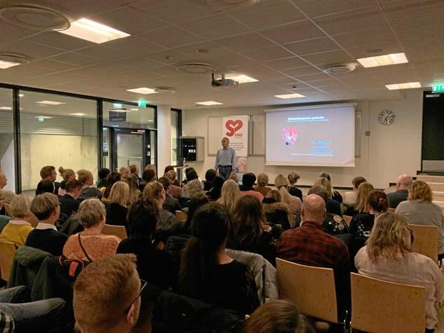 Henrik Rindom indledte sit foredrag med at fortælle, at han selv havde været misbruger.Privatfoto