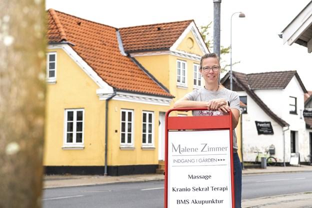 Malene Zimmer er flyttet ind i nye lokaler på Kattedamsvej 4 med indgang i gården.