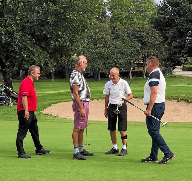 Der blev grinet, hygget og spillet golf. Foto: Rold Skov Golfklub