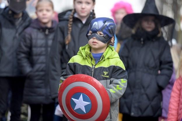 Kaptajn Amerika stod klar til at flå tønderne i stykker.Foto: Henrik Louis HENRIK LOUIS