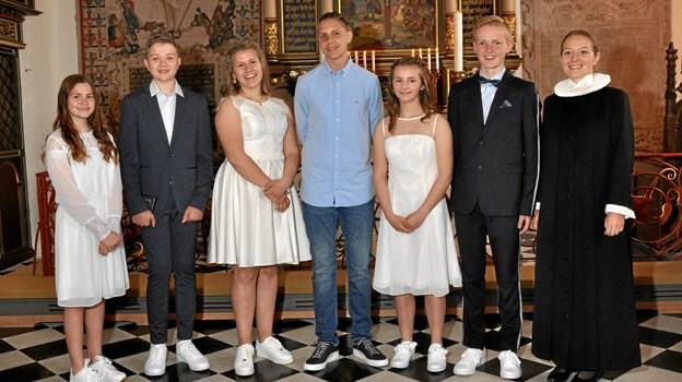 Konfirmeret i Visborg kirke den 18. maj. Foto: Privat.