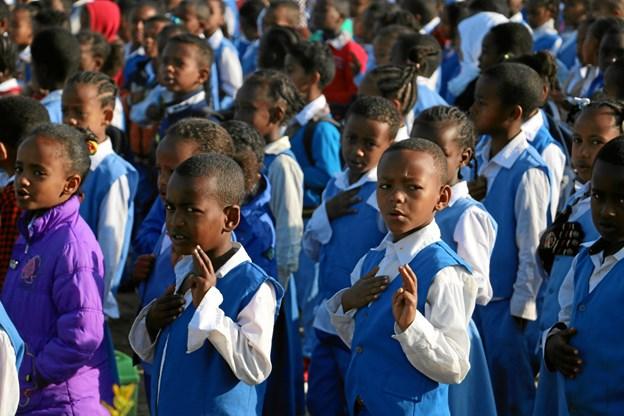 SOS Børnebyerne sætter fokus på de allerfattigste skolegang. Foto: Ida Mørck/SOS Børnebyerne