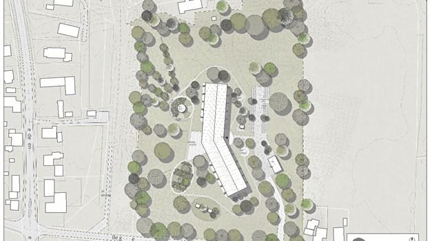 Borgere i Tornby vil oprette nyt friplejehjem, når Havbakken lukker. Ill. Atra Arkitekter