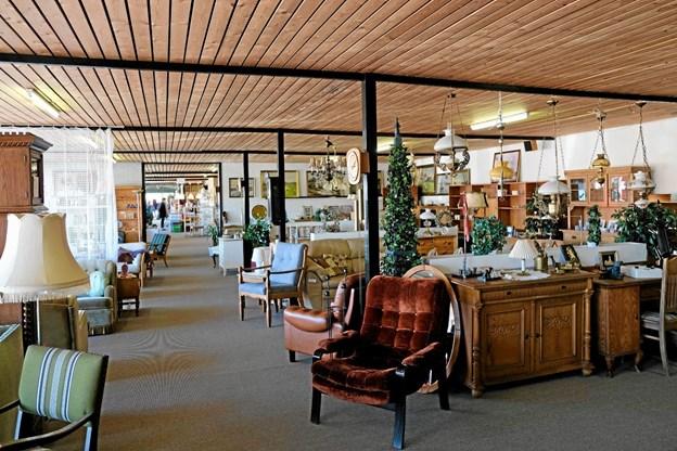 Til Åbent Hus arrangementet er der åbent i hele den store butik.Foto: Niels Helver Niels Helver