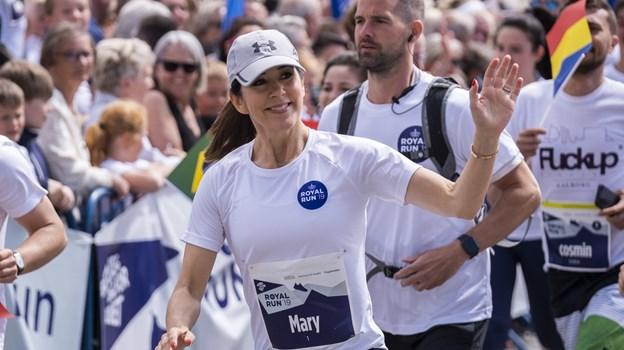 Mary løb både en almindelig fem kilometer og en one mile med julemærkehjems-børn. Foto: Lasse Sand