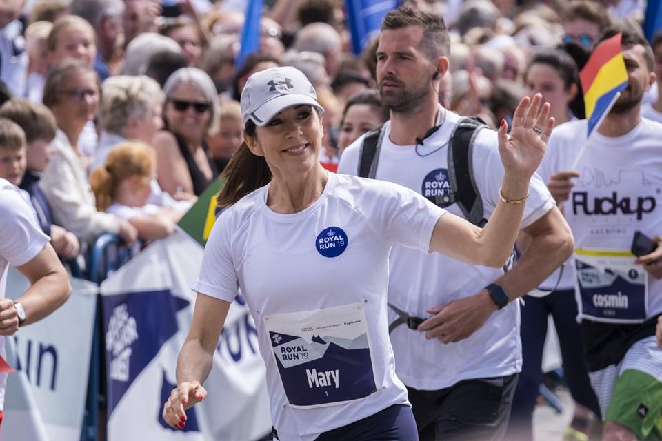 Kronprinsesse Mary løb fem kilometer gennem Aalborgs gader. Foto: Lasse Sand