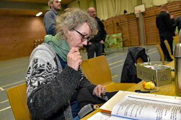 Helga Jensen syer under de sidste prøver. Foto: Ole Iversen Ole Iversen