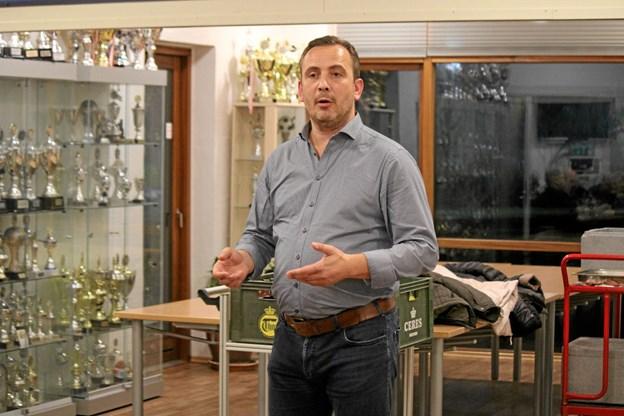 Bøje Holmsgaard Lundtoft fortalte om det nye initiativ. Foto: Flemming Dahl Jensen Flemming Dahl Jensen