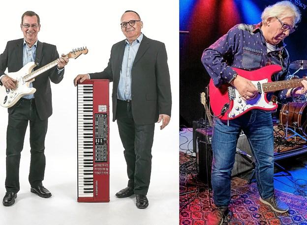 To af de navne der optræder til PR-musikfesten på Vesløs Kro: duoen New Midnight og guitaristen Hans Ravn. Foto Kristian Amby