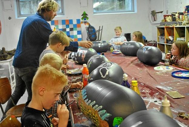 De kreative fag har en væsentlig rolle på Ørding Friskole. Privatfoto.