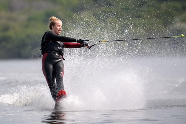 Simone Højer Mikkelsen nyder at være på fjorden igen. Foto: Nicolas Cho Meier