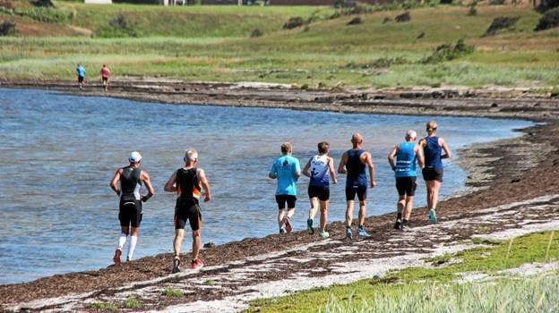 Stranden kan være tung at løbe på! Foto: Hans B. Henriksen Hans B. Henriksen