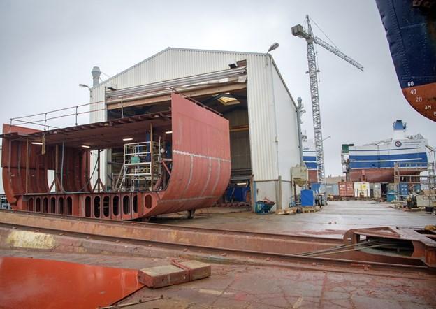 Karstensens Skibsværft blev ramt af modgang i 2018.Arkivfoto