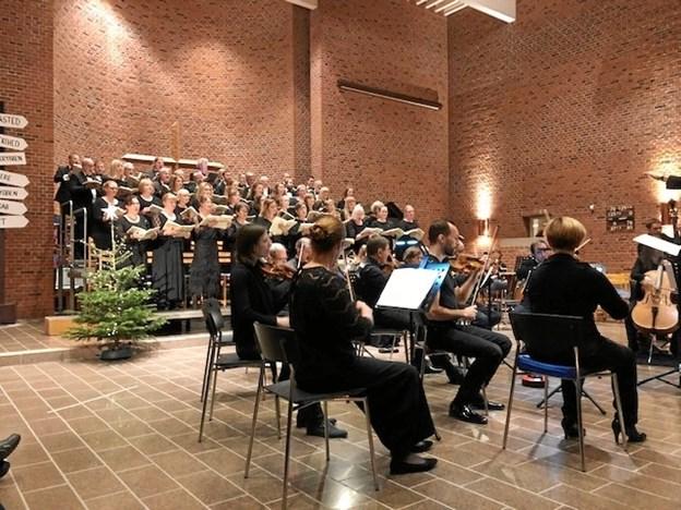 """""""Halleluja"""" afslutter som nok den mest kendte part af Messias-oratoriet i tre dele og her fremført på smukkeste vis af Filharmonisk Kor og Nordjyske Strygere.Privatfoto"""