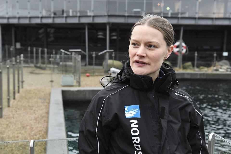 Nathalie Danielsen var ovenud begejstret for den vellykkede sælfangst. Foto: Bent Bach