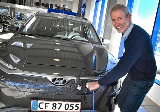 Grønne biler er fremtiden. Kaj Højland holder grøn weekend - hvor man kan få svar på alt omkring grønne biler og møde tilfredse ejere af grønne biler af mange mærker. Foto: Ole Iversen