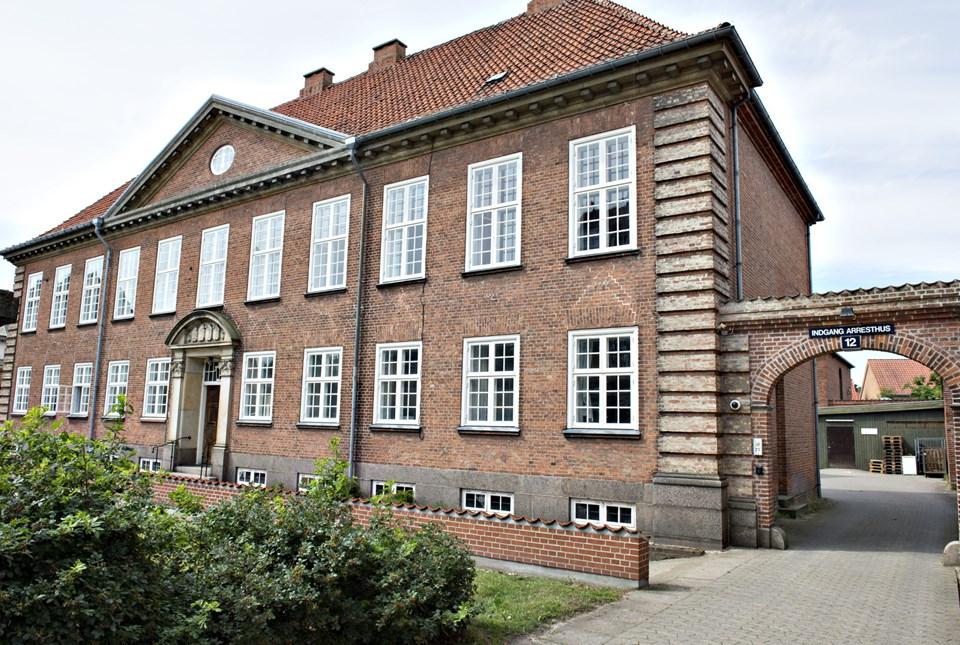 Hjørring Arrest i Jernbanegade. Arkivfoto: Kurt Bering