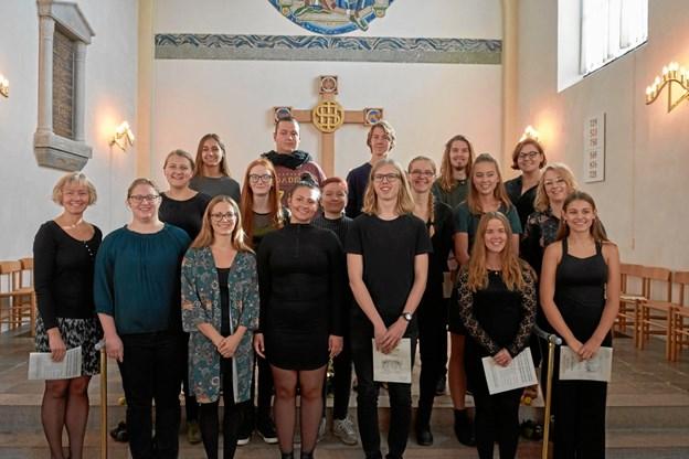 """Hobro Kirkes Kor - medvirker i forbindelse med """"De ni læsninger"""" i Hobro Kirke. Privatfoto"""