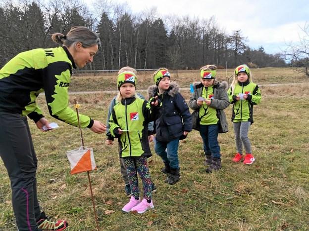 Unge orienteringsløbere klar til den nye sæson. Foto: Rikke Vangsgaard, Rold Skov OK.