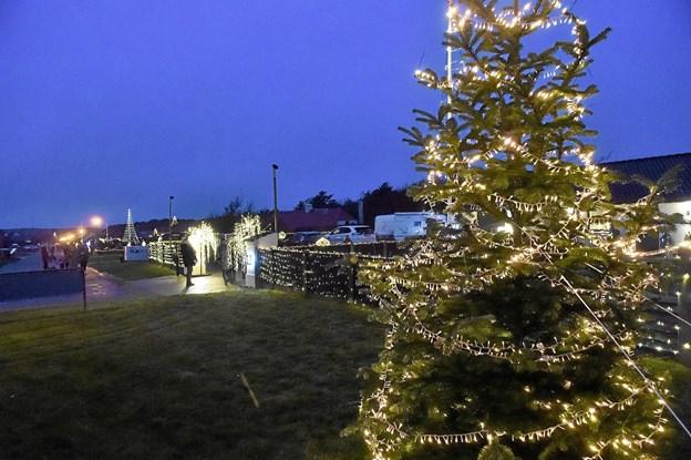 Flot ser det ud på Bødkervej i december måned.. Foto: Ole Iversen