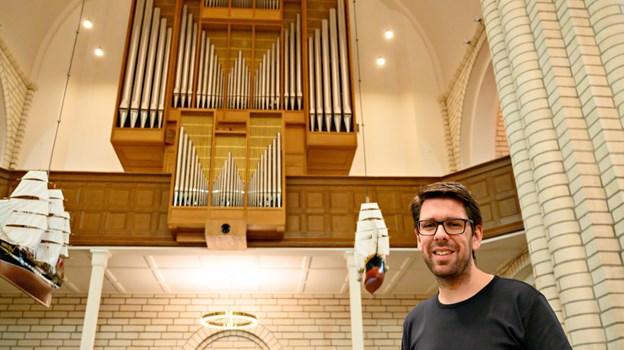 Claus Bach Nielsen har spillet orgel, siden han var 11 år.  Foto: Kurt Bering