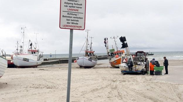 Kystfiskerne i Løkken har fået et nyt isværk med tilskud fra blandt andet FLAG Nord. Arkivfoto: Kurt Bering