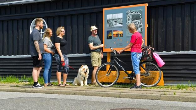 Et af de nye skilte står her ved Aalborg Dame Roklub. Foto: Jesper Thomasen