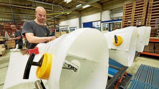 Skiold A/S i Sæby producerer blandt andet materiel til landbrugssektoren. Arkivfoto