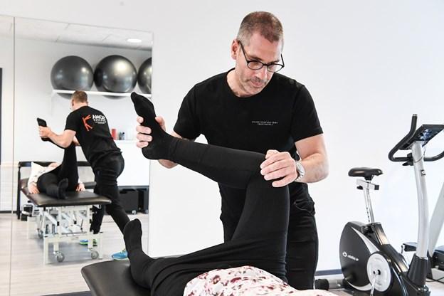 Patienter har fået garanti for, at deres genoptræning begynder senest syv dage efter udskrivelse fra sygehuset efter eksempelvis en hofte- eller en knæoperation. Foto: Bent Bach Bent Bach