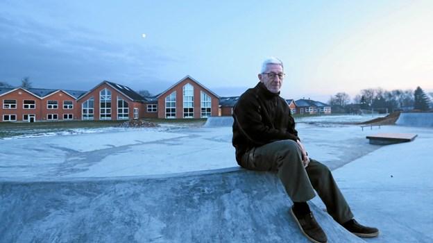 Formanden for Gandrup Samråd, Arne Jacobsen, glæder sig over, at projektet skrider planmæssigt frem. Foto: Allan Mortensen