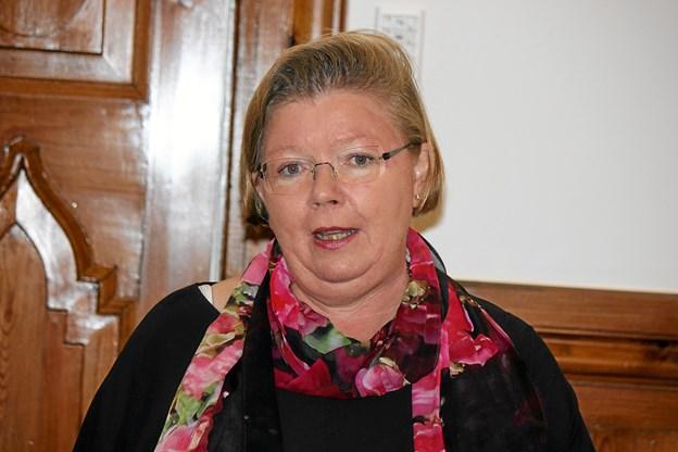 Lis Nielsen takkede for donationen til Børn i Sorg i Vesthimmerland og Jammerbugt Kommune. Foto: Flemming Dahl Jensen Flemming Dahl Jensen