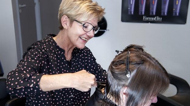 Kristen Pedersen har 25 års jubilæum i Salon Brix. Foto: Peter Mørk