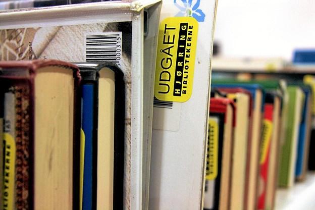 Køb brugte bøger for en slik på Hjørring Bibliotek. Du kan betale med både MobilePay og kontanter. Foto: Martin Jørgensen