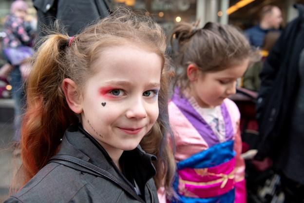 Der var gjort meget ud af udklædningerne hos de mange børn, der var mødt op.Foto: Henrik Louis HENRIK LOUIS