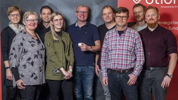 Her ses hele holdet i Otiom. I midten er det Kim Poulsen og Thomas Pedersen. Foto: Lasse Sand