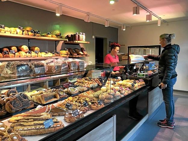 Den nye, flotte butik. Foto: Privat