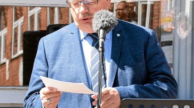 Borgmester Mogens Christen Gade stod for indvielsestalen. Foto: John Andersen