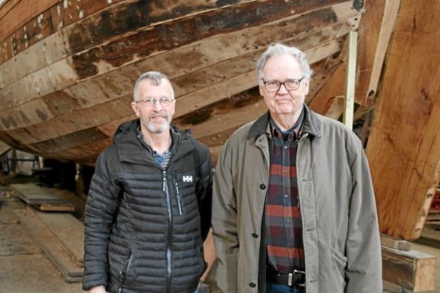 Søren Petersen og Svend Flyvbjerg har fået mange gode snakke. Flemming Dahl Jensen