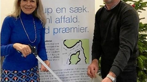 Laila Zielke (S) og Niels Jørgen Pretzmann (V), politikere fra Hjørring og Jammerbugt kommuner. Frederikshavn kommune deltager også i Kystlotteriet. Privatfoto