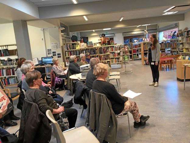 Møldrup Bibliotek havde Møldrup Bibliotek et velbesøgt møde med Bente Dalsgaard og Maria Rømer fra Sundhedssatelitten i Møldrup. Privatfoto
